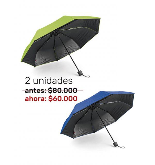 2 Sombrillas Con UPF 50+
