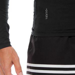 Pantaloneta Negra Rayas con Protección Solar